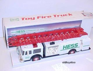 1989 hess aerial ladder fire truck bank mib