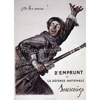 Vintage WWii French Propaganda Poster On Les Aura Home