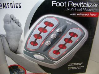 HOMEDICS FOOT REVITALIZER FOOT MASSAGER w INFRARED HEAT FM 100H EXC