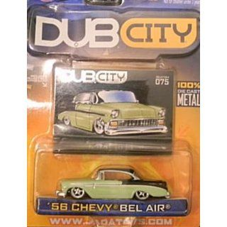 Jada Dub City Green and Black 1956 Chevy Bel Air 164