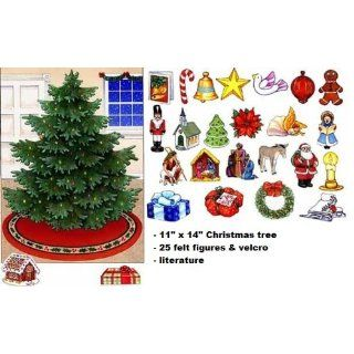 Christmas Tree Advent Calendar Felt Flannel Board Set