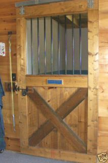 Building Plans for Wood Horse Stall Door for A Horse Barn or Stable
