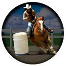 New Round Car Magnet Barrel Racer Horse Nice