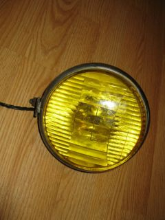 Headlight Amber Yellow Fog Light Custom Chopper Bobber Rat Bike