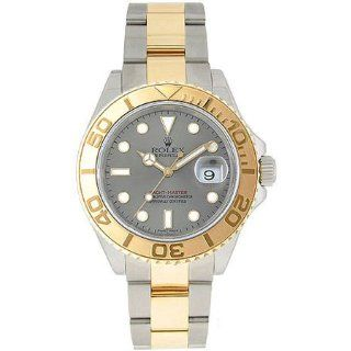 Rolex Yachtmaster Grey Index Dial Oyster Bracelet Two Tone Mens Watch