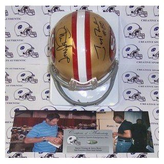 Jerry Rice & Steve Young Autographed 49ers Riddell Mini