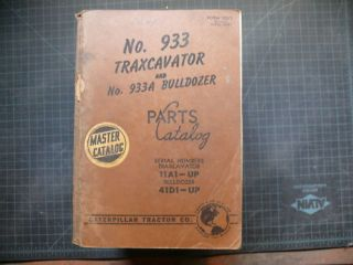 Cat Caterpillar 933 Traxcavator Parts Manual Book 11A Catalog Track