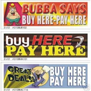 3x10 Buy Here Pay Here Color Vinyl Banner Signs Office
