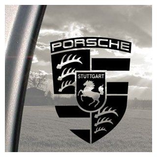 Porsche Black Decal Truck Bumper Window Vinyl Sticker