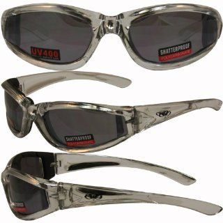 Flashpoint Chrome and Silver Frame Motorcycle Glasses Flash Mirror