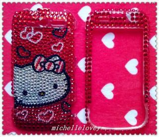 HELLO KITTY RHINESTONE BLING FULL COVER CASE FOR HTC MyTouch 4G HM5