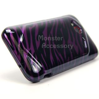 Purple Zebra Hard Case Snap On Cover For HTC DROID Incredible 4G LTE
