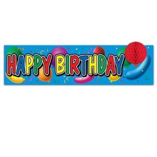 Happy Birthday Sign W/Tissue Balloon (108 Pack)