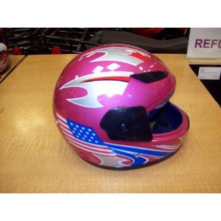 Dot Appproved Kids Helmet (Pink w/ American Flag)109
