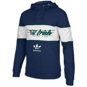 adidas College Trefoil Snap Hoodie   Mens   Notre Dame Fighting Irish