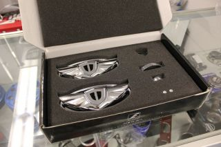Hyundai Genesis Coupe Chrome Wing Steering Wheel Emblem