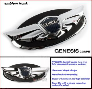 HYUNDAI Genesis coupe(10 2012)genuine emblem//Chrome Wing emblem Hood