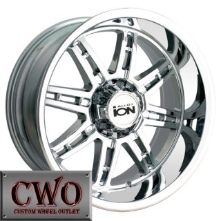 17 Chrome ion 183 Wheels Rims 8x165 1 8 GMC Chevy 2500 HD Dodge RAM