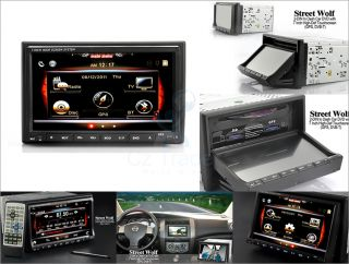 Universal 2 DIN In Dash Car DVD GPS Navigator with 7 Inch Touchscreen