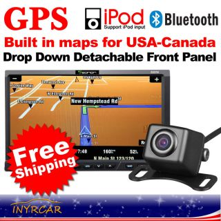 Eonon In Dash 2DIN 7 LCD Car GPS Navigation DVD Player iPod w Camera