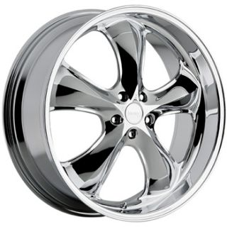 22x9 5 Chrome Incubus Shylock Wheels 5x115 Rims