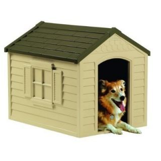 New Dog House Up to 70 Pounds Indoor Outdoor Suncast