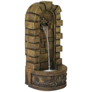Castle Cascade LED Indoor Outdoor Water Fountain New