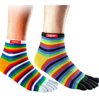 Injinji Original Weight Performance Toe Sock Mini Crew Rainbow All