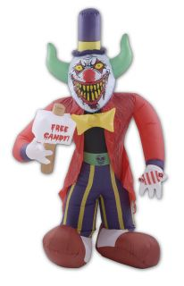 Inflatable Free Candy Clown 8 ft Halloween Lawn Decoration New
