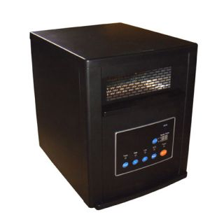 Black Cabinet Heater 750W 1500W Infrared Mica Portable Space Heater