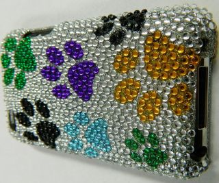 Apple iPod Touch 4 4th Gen Puppy Dog Paws Bling Diamond Rhinestone