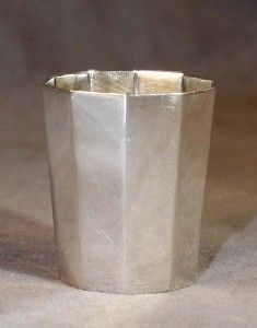 Antique Art Deco 800 Silver German Shot Glass Hallmark