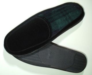 ISOTONER Mens Sz XXL 13 14 Black Clog Slippers Indoor / Outdoor Sole