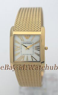 Emporio Armani Classic Goldtone Mother of Pearl Watch