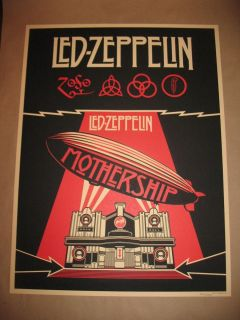 SHEPARD FAIREY LED ZEPPELIN POSTER LIMITED EDITION MOTHERSHIP COVER
