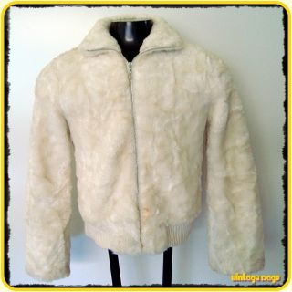 Lo Jennifer Lopez Faux Fur Jacket Coat Womens Size M Medium White