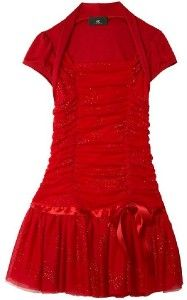 IZ Amy Byer Glittery Red Mock Layer Tutu Hipster Dress Size 14 $62