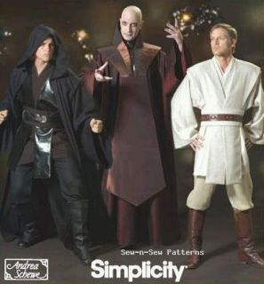 4450 Sewing Pattern Star Wars Costume Jedi Robe Anakin XS XL