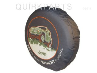1996 2012 Jeep Wrangler Tire Cover Pavement Optional