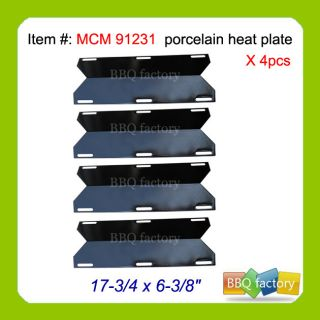 Jenn Air Replacement Gas Grill Porcelain Steel Heat Shield Plate 91231