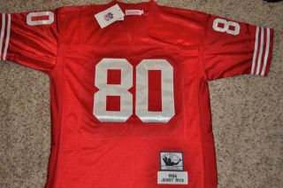 San Francisco 49ers 1994 Jerry Rice Throwback Jersey Sewn
