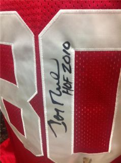 Jerry Rice Signed 49ers Red Throwback Jersey Rice Hologram