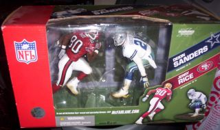 McFarlane NFL Box Set Jerry Rice vs Deion Sanders Cowboys vs 49ers