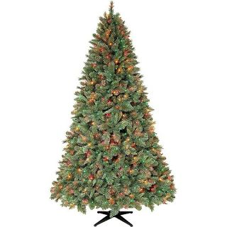 Slim 7 5 7 5ft Prelit Multi Color Lights Christmas Tree Pickup NJ