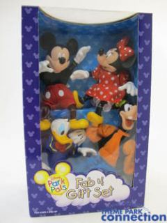 Park Pals FAB 4 GIFT SET Dolls Figures Mickey Minnie Goofy Donald NEW