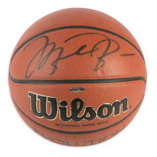 Michael Jordan Signed Basketball   Wilson Evolution   Mounted Memories