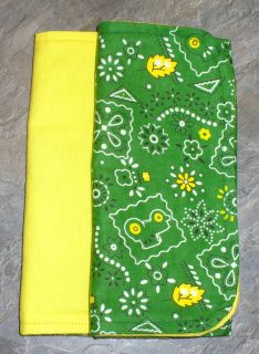 John Deere Farm Green Yellow Baby Burp Rags Changing pads set of 2 All