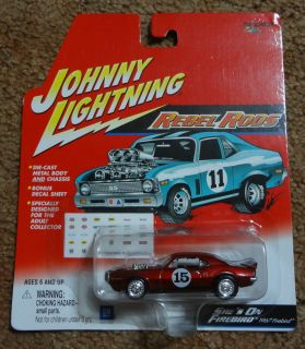 Johnny Lightning Rebel Rods 1967 Pontiac Firebird She's on Firebird
