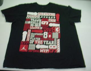NIKE MICHAEL AIR JORDAN JUMPMAN BASKETBALL T SHIRT Sz Mens XXL Black