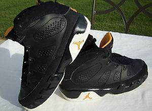 Nike Air Jordan Retro 9 Black Citrus White Youth Boys Basketball Shoes Sz 2Y